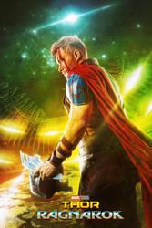 Cosplay - Thor Ragnarok poster by m0rg0t-Anton
