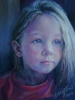 artystafineart pastel portrait by artystafineart
