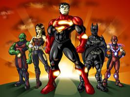 Ultimate Justice League Colour by spydaman