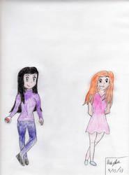 Ashley and Dahlia by THEEDEATHMASTER