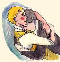 BertieXJeeves random kissing by jossujb