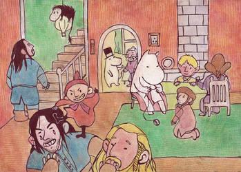 Moomin-Hobbit crossover by jossujb