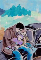 John, baby Sam and wee Dean by jossujb