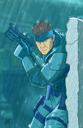 Solid Snake Metal Grar Solid by DarkSunProductions