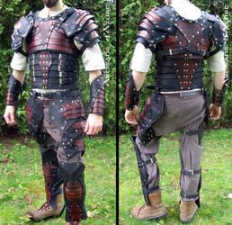 Full leather armor with slats by ArtisansdAzure
