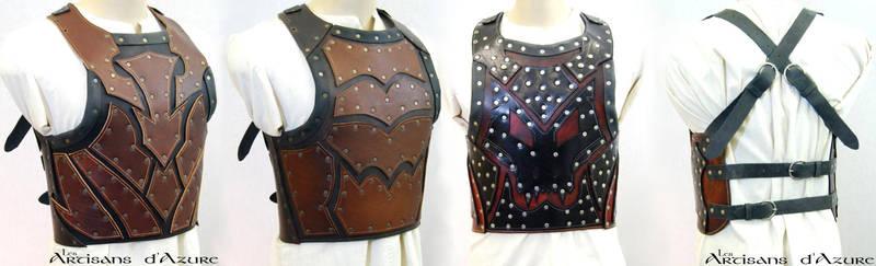 Leather breastplate prototype by ArtisansdAzure