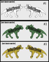 Adoptable Wolf Batch #1 (3/3 OPEN) SALE!!! by InuHalfDemon