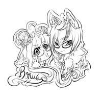 [Gift] Bonus Sketch for 3DAri by xXYukiNoUsagiXx