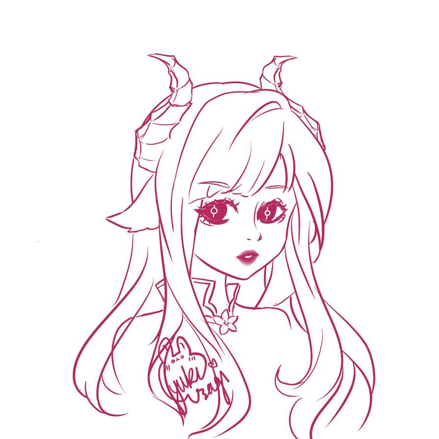 Luciella Ancalagoria Sketch by xXYukiNoUsagiXx