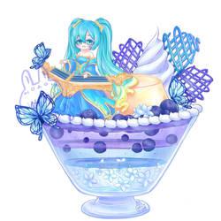 LoL Desserts Sona's Blue Paradise Parfait by xXYukiNoUsagiXx