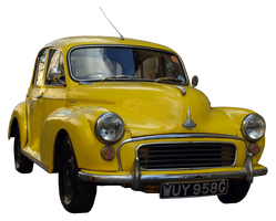 cut out yellow vintage car by SolStock