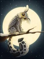 Snowy Owleopard by NattiKay