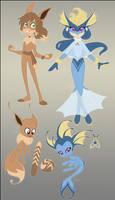 Eevee Heros by NattiKay