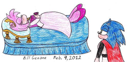 SonAmy Sleeping Beauty Cosplay by germanname