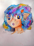 Galaxy Humanized by SakuraDrawingPencil