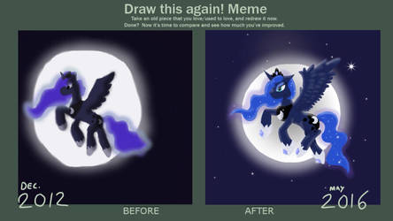 Princess of The Night Awakens- Draw This Again! by SakuraDrawingPencil