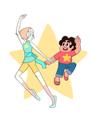 Steven And Pearl by SakuraDrawingPencil