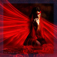 THE DARK RED ROSE V.2 by Rickbw1
