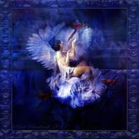 VINATAGE ANGEL Blue by Rickbw1