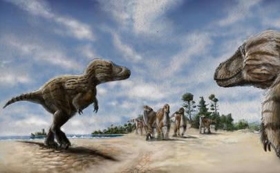 Tarbosaurus by hannay1982