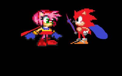 PowerRose Meets Luke The Hedgehog by sonicluke122
