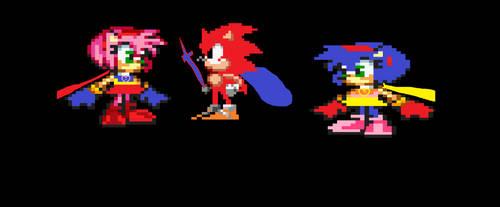 PowerRose Meets Luke The Hedgehog And Sophia Rose by sonicluke122