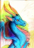 Pretty Blue Dragon by LinmirianDragon