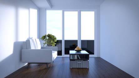 Compact Modern Living Room by JoeyBlendhead