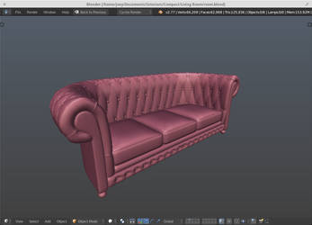 Chesterfield Couch ~ WIP by JoeyBlendhead