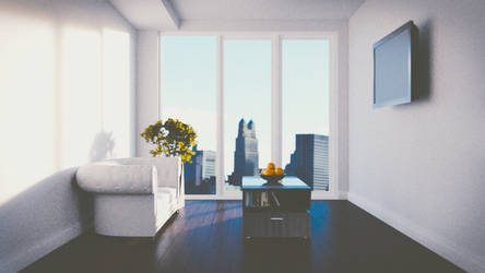 Compact Modern Living Room - WIP by JoeyBlendhead