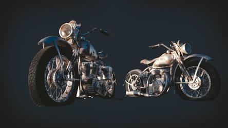 Harley Davidson WLC 1946 3D Model by JoeyBlendhead