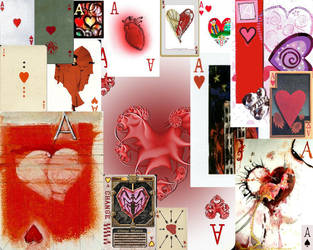 Ace of Hearts Collage by Calamoo
