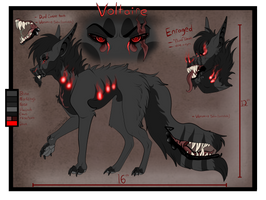 Voltaire Reference sheet by EnchantedDoveWolf