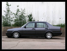 VW Jetta Straight At Wall by Andso