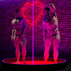 Nude Dancers at the Cupid Club by MGMOZ