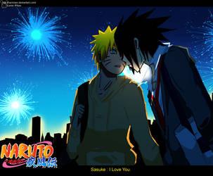 SasuNaru :Over the fireworks: by Ranniiee