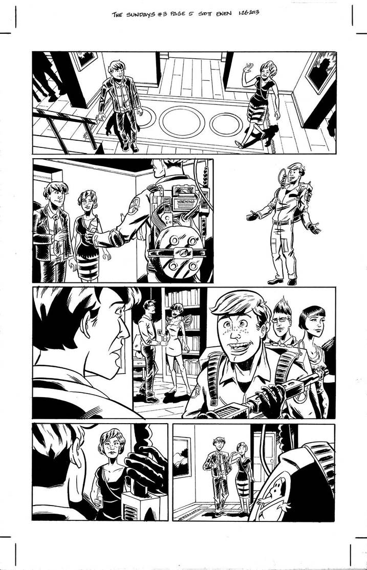 The Sundays #3 page 5 inks by ScottEwen