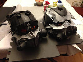 Helghast helmets by CynicPirate