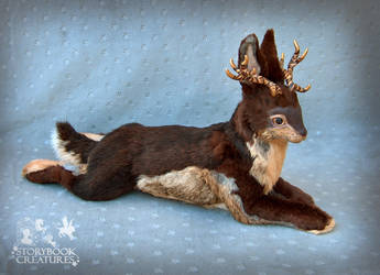 Jackalope - Poseable Art Doll by StorybookCreatures