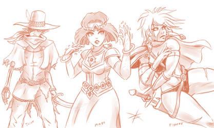 Adventurer Trio by Veni-Mortem