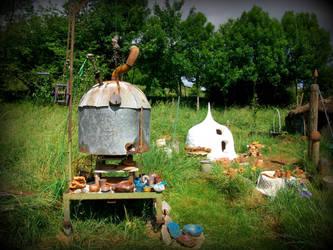 ufo oven , heaven in the garden 01 by gangahimalaya