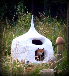 fox in the oven in the garden by gangahimalaya