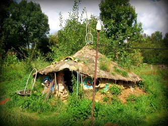 roundhouse in the garden by gangahimalaya
