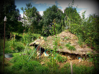roundhouse in the garden green art by gangahimalaya