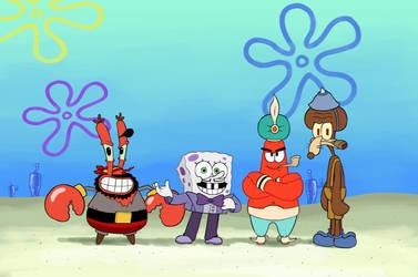Spongebob Cuphead by MatiZ1994