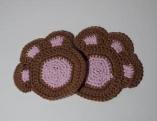 Paw Coaster Crochet Pattern - No Sew -PDF Download by Zalarnia