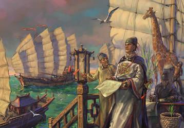 Admiral Zeng He by art-bat