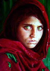 ...Afghan Girl... by emizael