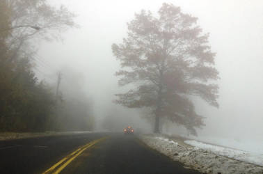 City in the mist by emizael