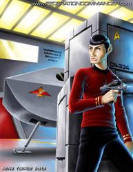 Captain's Log #46 cover illustration by Adam-Turner